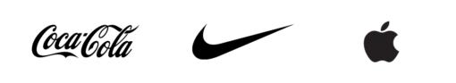 Coca-Cola Nike Apple Logos