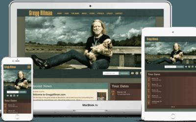 Website Design Case Study: Gregg Allman
