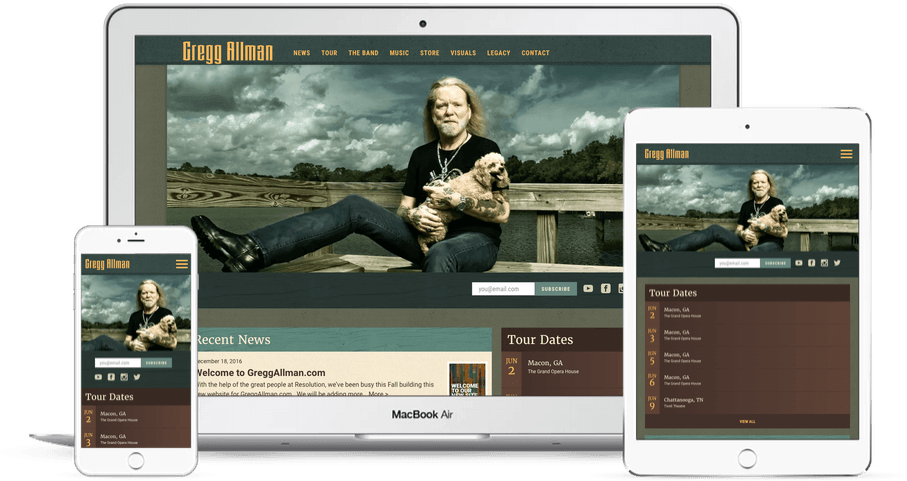 Website Design Case Study: Gregg Allman