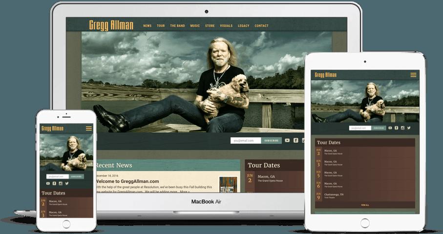 Gregg Allman website