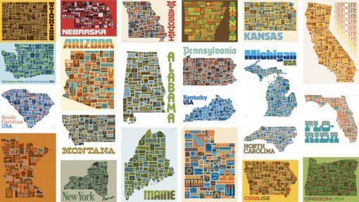 Aaron Draplin state posters