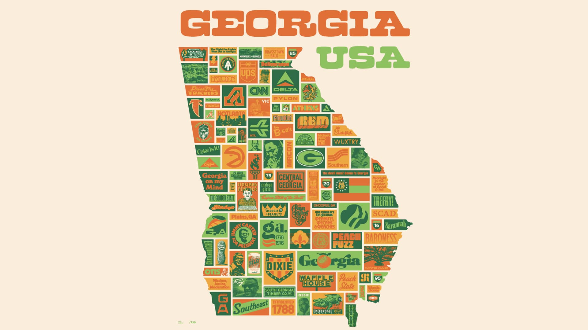 Aaron Draplin Georgia poster